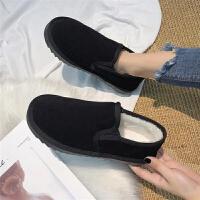 2019新款雪地靴女短筒冬季女鞋学生韩版百搭加绒面包棉鞋靴子短靴