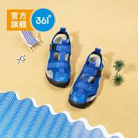 361度童鞋 男童包头沙滩鞋2021夏季新款男童防滑中大童儿童沙滩凉鞋