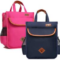 包邮补习袋小学生书包手提袋男女儿童补习包书袋补课包手拎学习斜挎包