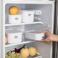 居家方正便携保鲜盒 厨房可加热食材塑料保鲜盒 多用便当饭盒