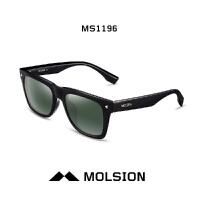陌森太阳镜男士眼镜2015款司机墨镜偏光粗方框铆钉太阳镜MS1196