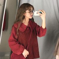初春两件套女洋气2019新款韩版宽松衬衫背心针织马甲网红时尚套装