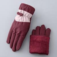滑雪手套女冬季保暖双层户外骑车手套运动手套