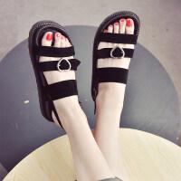 大东同款同款鞋子女沙滩厚底休闲女士凉鞋女夏平底新款韩版软妹学生简约潮