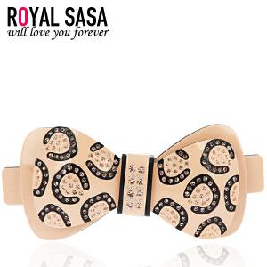 皇家莎莎RoyalSaSa韩版头饰品发卡顶夹盘发夹水晶横夹发饰 许愿池的少女