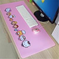 游戏鼠标垫超大号加厚锁边创意可爱卡通电脑鼠标垫办公桌垫键盘垫(1) 400x900mm