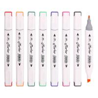 汇多乐双头马克笔 儿童DIY手绘水彩笔 酒精性绘画彩笔 画笔