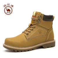 骆驼牌 马丁靴男 英伦风短靴子潮工装靴复古大黄靴冬