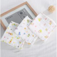 阳光菊 六层印花水洗纱布手帕 宝宝口水巾 无荧光剂 婴儿方巾