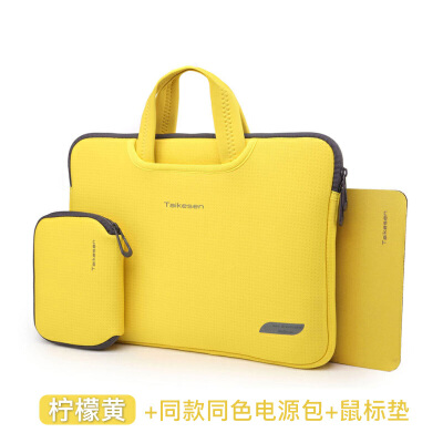 苹果Air11笔记本12电脑包Macbook内胆13保护套mac皮套13.3pro15寸 送原装套件隐藏手提设计呼吸材质