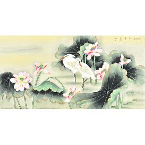 中国书画研究会会员 唐晓静130 X 66CM花鸟画 gh05298