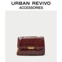 URBAN REVIVO2020秋季新品女士配件菱格纹金属链条包AW34BB2N2000