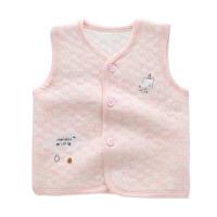 婴儿保暖马甲宝宝马夹彩纱棉厚上衣新生儿夹棉衣服1-2-3岁