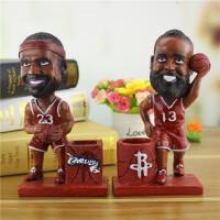 NBA篮球明星詹姆斯哈登笔筒摆件 创意家居新奇特树脂工艺品