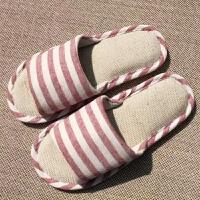 亚麻拖鞋男女士夏季家居四季情侣网红室内居家木地板软底防滑布春