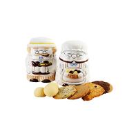 【年货】诗特莉老公公老婆婆 (S) 180g(双罐) 台湾进口牛奶巧克力燕麦手工喜饼饼干休闲零食品