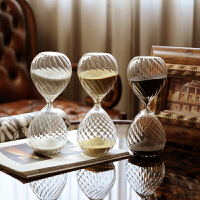 波纹沙漏计时器30分钟复古居家装饰桌面摆件新年生日礼物