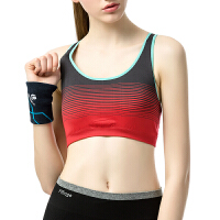 背心式运动文胸女防震跑步健身瑜伽条纹撞色吸汗速干无钢圈内衣