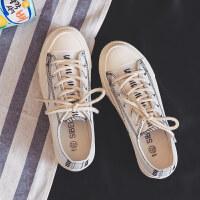 新款百搭学生小白帆布女鞋2019春季山本风复古韩版布鞋板鞋子