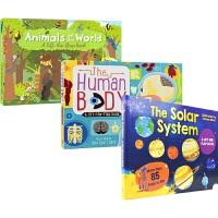 【首页抢券300-100】Lift-The-Flap Books 动物 太阳系 人体 幼儿百科 科普机关互动 英语纸板翻