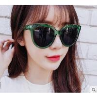 韩版女太阳镜 新款墨镜 户外明星款个性网红眼睛绿色墨镜复古太阳镜女 眼镜潮