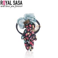 皇家莎莎RoyalSaSa可爱小熊儿童发饰毛绒卡通发圈手工头饰韩版头绳头花饰品