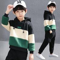 童装男童套装秋冬装男孩儿童帅气卫衣两件套潮衣