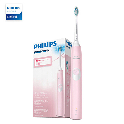 飞利浦(PHILIPS)电动牙刷 净齿呵护型 成人声波震动 HX6806/02