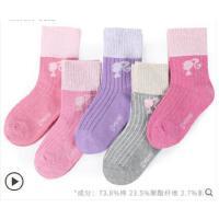 春秋冬季纯棉女童袜子公主中筒袜宝宝棉袜女孩公主袜芭比儿童袜子