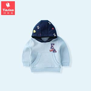 【1件3折价:47.7】纤丝鸟(TINSINO)儿童连帽卫衣男女童套头上衣宝宝衣服