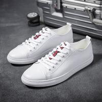 皮鞋男夏季新品头层牛皮黑色白色皮鞋小白鞋运动休闲鞋青年男士低帮增高潮流板鞋