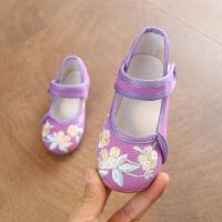儿童绣花鞋布鞋汉服鞋子民族风舞蹈鞋