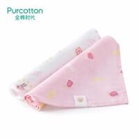 全棉时代 星星小兔+粉底小面包婴儿纱布三角巾62x43cm2条装