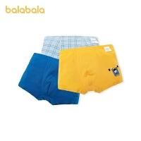 【1.20年�� 2件7折: 83.3】巴拉巴拉�和��妊�男童平角短�棉�|四角中大童小童���w舒�m3�l�b