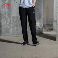 李宁卫裤男士训练系列收口长裤针织春季运动裤AKLM089