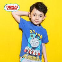 【直降】托马斯正版童装男童夏装时尚纯棉短袖圆领T恤上衣