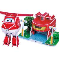 古部拼图 3D立体场景拼图玩具 超级飞侠4片装17JF2579