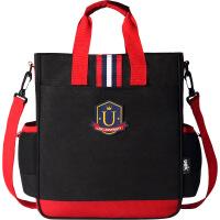 小学生书包补习袋小学生手提包美术袋拎书袋斜挎包男女卡通补课书包
