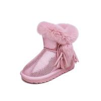 №【2019新款】冬天小朋友穿的女童雪地靴兔毛韩版加绒靴子儿童短靴 宝宝棉鞋