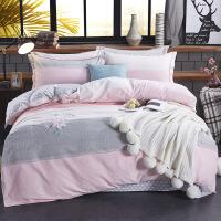 多�格床�问侥ッ�床上用品保暖四件套 被套220*240 床��245*270
