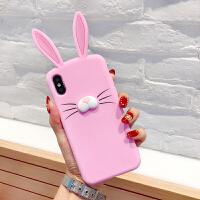 苹果5长耳朵兔子手机壳6软硅胶6P有趣的7个性8卡通创意防摔保护套 苹果5 粉色 经济大厦四楼4D35