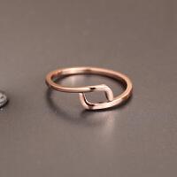 简约玫瑰金十二星座之双子座 情侣闺蜜戒指