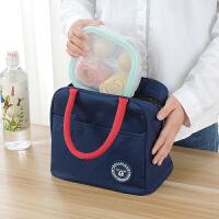 饭盒包手提包防水女包手拎便当包带饭包帆布铝箔加厚保温饭盒袋子