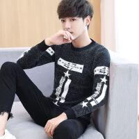 毛衣男士青年针织衫打底衫线衣毛衫加绒加厚外套秋冬季保暖韩版羊