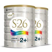 【4段】保税区/澳洲直邮 Wyeth惠氏 金装S26 新西兰婴幼儿配方奶粉 四段(2岁以上)  900g*2罐 海外购