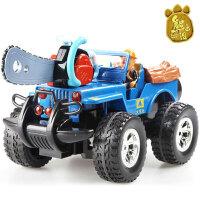 龙祥熊出没玩具套装越野车光头强遥控汽车森林伐木车充电汽车男孩