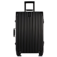 拉杆箱万向轮24寸铝框皮箱旅行箱女磨砂行李箱26寸包箱复古登机20