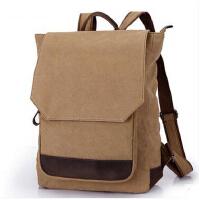 时尚潮流双肩包男士背包 学生书包休闲旅游包 帆布电脑包旅行包