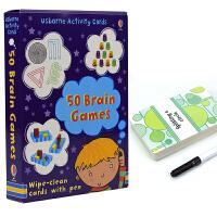 Usborne Activity Cards 50 Brain Games 大脑游戏活动卡片 53张卡片 3~6岁幼儿