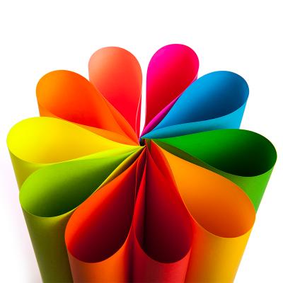悦声A4彩色书纸20色混装80g软纸手工纸儿童折纸材料剪纸卡纸 TS001 当当自营